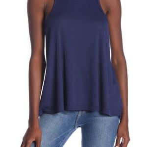 New Free People Navy Blue Long Beach Tank S